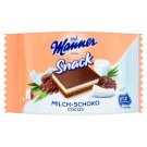 Manner Snack Chocolate-Coconut and Milk Cream Filled Wafer with Wheat Flakes 25 g