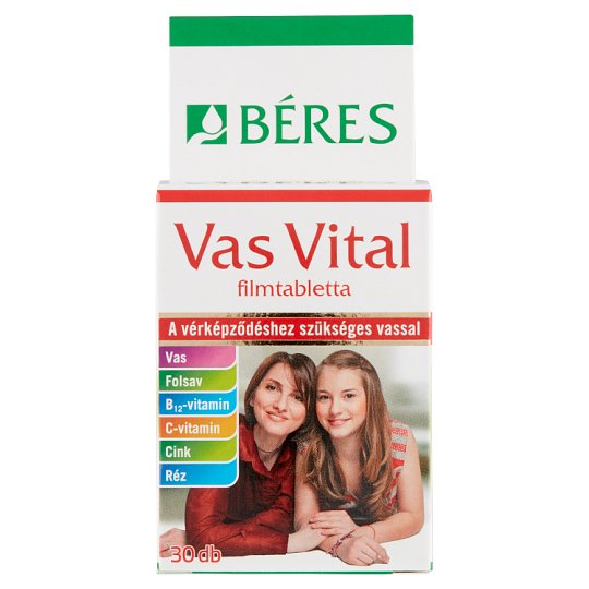 Béres Egészségtár Vas Vital Tablets 30 pcs 21,8 g
