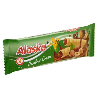 Alaska Hazelnut Cream Filled Corn Sticks 18 g