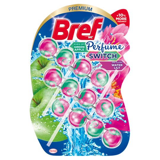 Bref Perfume Switch Floral Apple-Water Lily Toilet Freshener 3 x 50 g