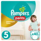 Pampers Pants Premium Care Size 5, 40 Nappies, 11-18kg
