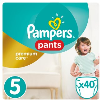Pampers Pants Premium Care 5-ös Méret, 40 Pelenka, 11–18 kg