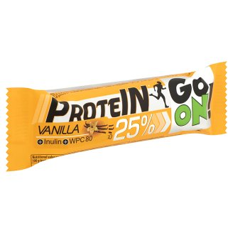 Protein Go On! High Protein Vanilla Bar with Inulin in Milk Chocolate 50 g
