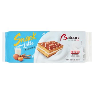 Balconi Snack al Latte Oven-Baked Confectionary Product with Milk Filling 10 pcs 280 g