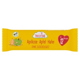 FruchtBar Organic Muesli Bar with Apricot, Apple and Oatmeal 12 Month+ 23 g