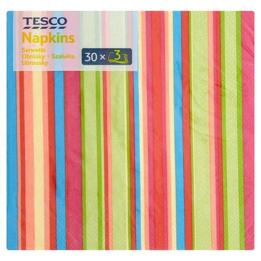 Tesco szalvéta 3 rétegű 33 cm 30 db
