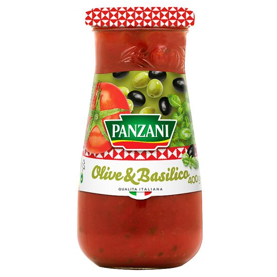 Panzani Tomato Sauce with Olives, Basil and Olive Oil 400 g