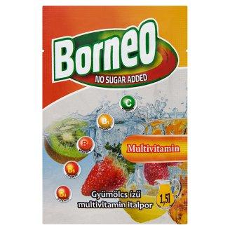 Borneo gyümölcs ízű multivitamin italpor hozzáadott cukor nélkül, édesítőszerrel 9 g