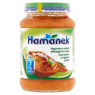 Hamánek Grandmother's Chicken with Vegetable & Rice Food for Babies 7+ Months 190 g