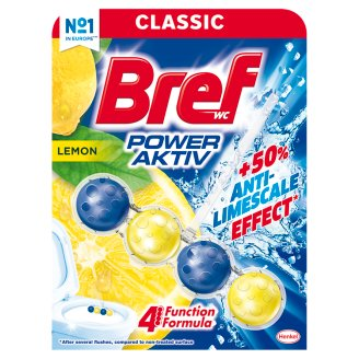 Bref Power Aktiv Juicy Lemon Toilet Block 50 g