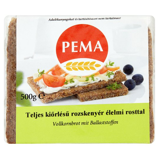 Pema Wholemeal Rye Bread with Dietary Fiber 500 g