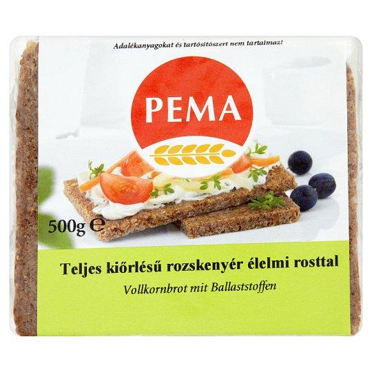 Pema teljes kiőrlésű rozskenyér élelmi rosttal 500 g