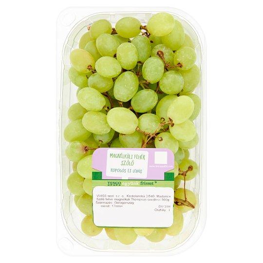 Tesco magnélküli fehér szőlő 500 g