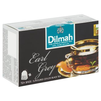 Dilmah Earl Grey Flavoured Ceylon Black Tea 20 Tea Bags 30 g