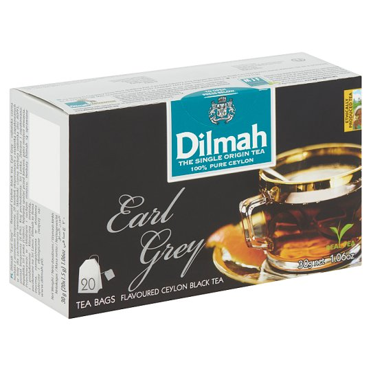 Dilmah Earl Grey Flavoured Ceylon Black Tea 20 Tea Bags 30 g