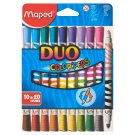 Maped Washable, Water-Based, Dual-Colour Felt-Tip Pens 10 pcs