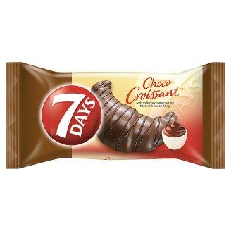 7DAYS Choco Croissant kakaó ízű töltelékkel töltött croissant tejcsokoládéba mártva 60 g