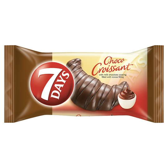 7DAYS Choco Croissant with Milk Chocolate Coating Filled with Cocoa Filling 60 g