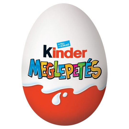 Kinder Meglepetés Milk Chocolate Shell with Milky White Lining Containing Toy 20 g