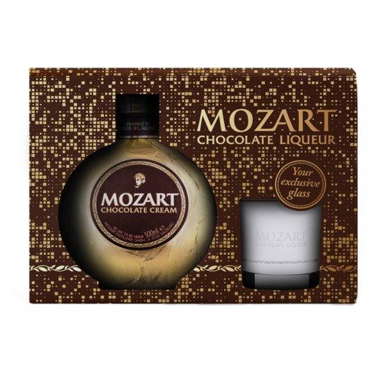 Mozart Chocolate Cream Liqueur 17% 0,5 l + Glass