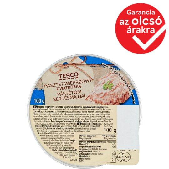Tesco Pate with Pork Liver 100 g
