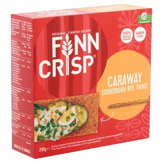 Finn Crisp Thin Rye Crispbread with Caraway 200 g