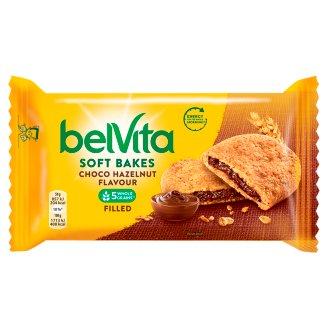 belVita JóReggelt! Softy gabonás omlós keksz csokoládés-mogyorós ízű töltelékkel 50 g