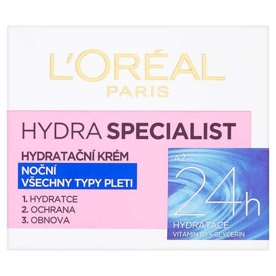 image 1 of L'Oréal Paris Hydra Specialist Moisturizing Night Cream for All Skin Types 50 ml
