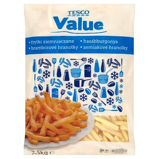 Tesco Value Quick-Frozen, Pre-Fried French Fries 2,5 kg