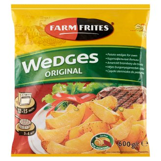 Farm Frites Pre-Fried, Quick-Frozen Potato Wedges for Oven 600 g