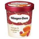 Häagen-Dazs mangó jégkrém málnás díszítéssel 500 ml