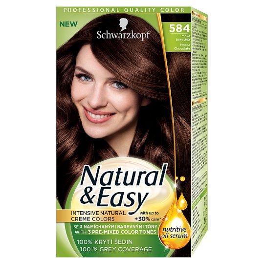 Schwarzkopf Natural & Easy 584 Mocha Chocolate Permanent Hair Colorant