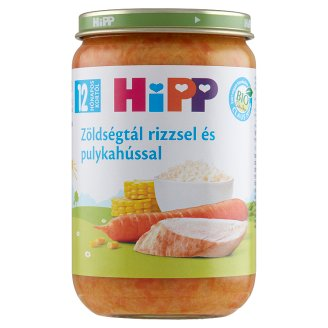 HiPP Organic Gluten- and Dairy-Free Vegetables with Turkey Baby Food 12+ Months 220 g