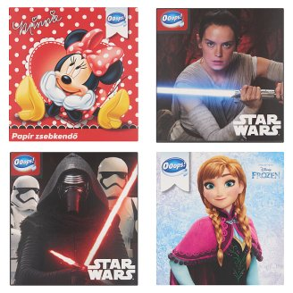 Ooops! Disney Handkerchiefs 3 Ply 54 pcs