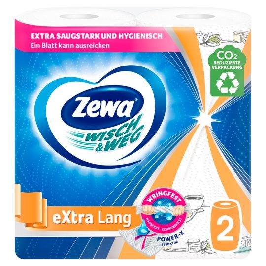 Zewa Wisch & Weg eXtra Lang Design Household Towels 2 Ply 2 Rolls
