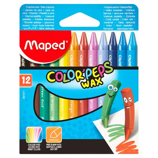 Maped Color'Peps Wax Crayons 12 pcs