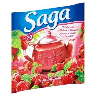 Saga Raspberry Fruit Tea 20 Tea Bags