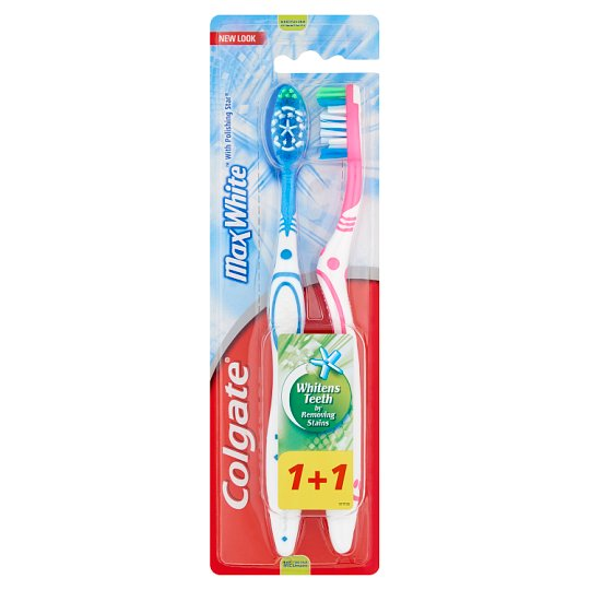 Colgate MaxWhite Medium Toothbrush 2 pcs