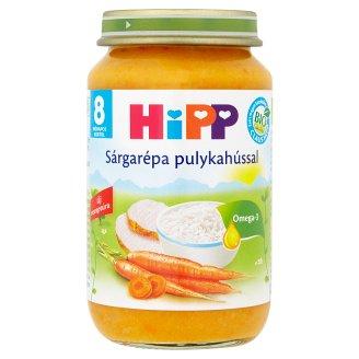 HiPP BIO glutén- és tejszármazékmentes sárgarépa pulykahússal bébiétel 8 hónapos kortól 220 g