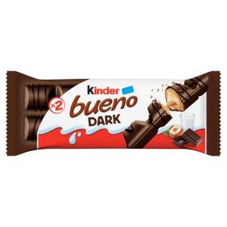 Kinder Bueno Dark étcsokoládéval bevont ostya tejes-mogyorós krémmel töltve 2 db 43 g