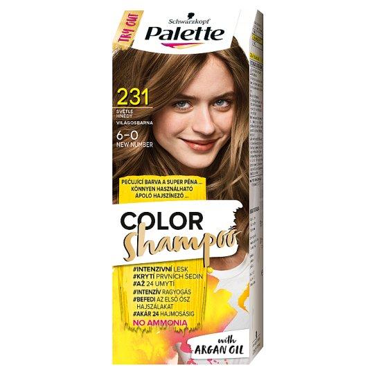 Schwarzkopf Palette Color Shampoo Hair Colorant 6-0 Light Brown (231)