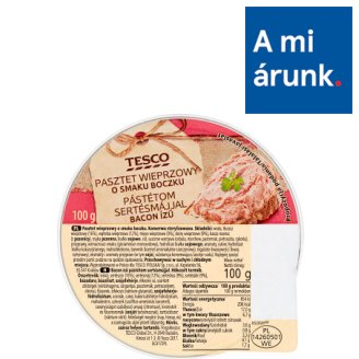 Tesco Bacon Flavoured Pate with Pork Liver 100 g