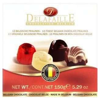 Delafaille töltött tej- fehér és étcsokoládé desszert 150 g