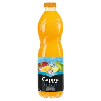 Cappy Ice Fruit Orange Mix Non-Carbonated Mixed Fruit Drink with Cactus Flavour 1,5 l