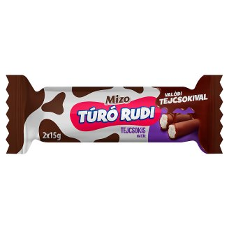 Mizo Super Duo Unflavoured Cottage Cheese Dessert with Milk Chocolate Coating 2 x 15 g