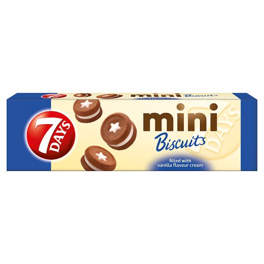 7DAYS Mini Biscuits with Vanilla Flavour Filling 100 g