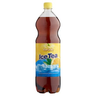 Ice Gold Ice Tea Lemon Flavoured Energy-Free Soft Drink with Sweeteners 1,5 l