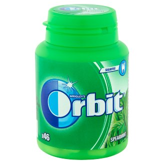 Orbit Spearmint Sugarfree Chewing Gum with Sweetener and Mint Flavour 46 pcs 64 g
