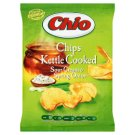 Chio Kettle Cooked Potato Chips Fried with Skin with Sour Cream and Onion Flavour 80 g