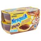 Nestlé Nesquik Duo Chocolate and Vanilla Flavoured Pudding 4 x 70 g